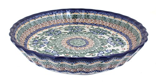 Polish Pottery Bluebell Pie Plate