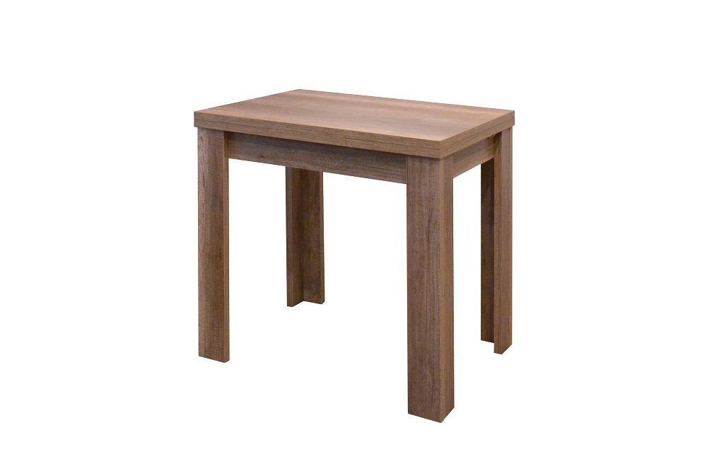 Möbel trend-moebel Esstisch Küchentisch Ausziehbar B/H/T 110x78x60 in Wildeiche-Trüffel