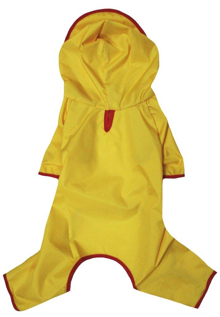 Petitebella Puppy Clothes Dog Dress Plain Color Novelty Raincoat (Medium, Yellow)
