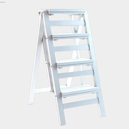 Yxsd Escalera multifunción Taburete Hogar Madera Maciza Niños Silla Plegable Provincia Espacio Escalera Ascendente de Cuatro Pasos de Doble Uso Escalera Ascendente, 42 × 67 × 92 cm (Color : White): Amazon.es: Hogar