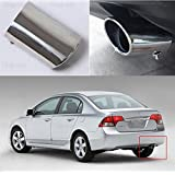 1 pcs Oval Tailpipe Exhaust Muffler Tail Pipe Tip for Honda Civic 2009-2016 2017 2018