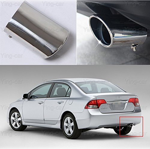 1 pcs Oval Tailpipe Exhaust Muffler Tail Pipe Tip for Honda Civic 2009-2016 2017 2018 - Oval Exhaust Tips