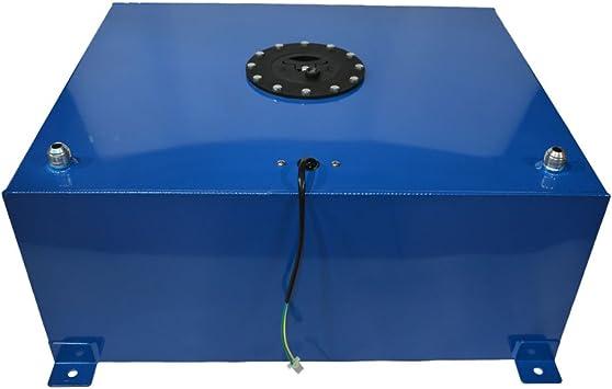 2.5 Gallon Polished Aluminum Fuel Cell Gas Tank Lightweight Racing Drift Fuel Cell Tank Level Sender Silver