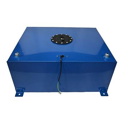 20 Gallon Polished Aluminum Race//Drift Fuel Cell Tank w//Level Sender Gas Tank