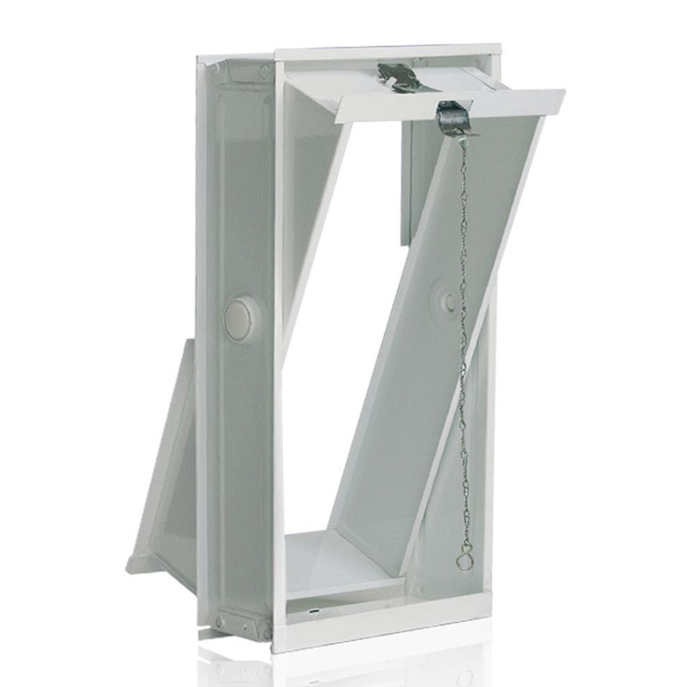 Ventana oscilobatiente: para el montaje en la pared de bloques de vidrio para 2 bloques de vidrio 24x24x8 cm Fuchs Design