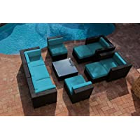 Sale Akoya Wicker Collection 10 Piece Outdoor Patio Furniture