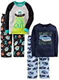 Simple Joys by Carter's Boys' Little Kid 4-Piece Pajama Set, Racer Cars/Space, 7: more info