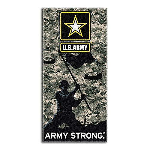 Northwest 1MIL-91100-0002-RET Us Army - Army Strong Beach Towel