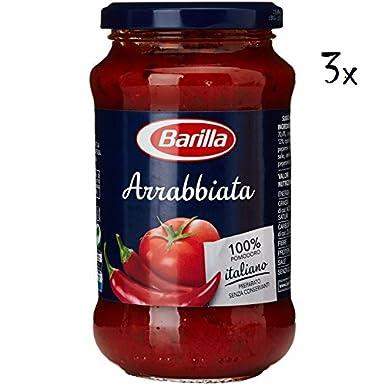 3x Barilla Arrabbiata Italian Tomato & Cilli Pasta Sauce 400g Ready to ...