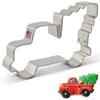 Ann Clark Cookie Cutters Extra Large Vintage Pickup Truck with Christmas Tree Cookie Cutter - 5 Inch - USA Made Steel