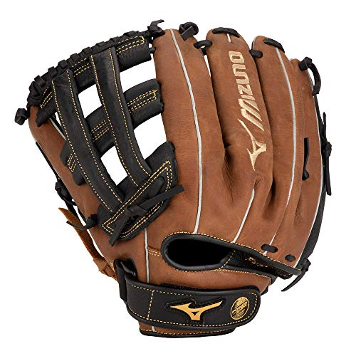 Mizuno Outfield Gloves - Mizuno GPSL1200BR Prospect Select Series Pitcher/Outfield Baseball Gloves, 12