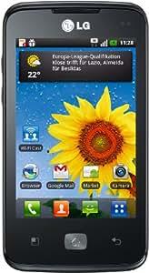 """LG E510 Optimus Hub - Smartphone libre Android (pantalla de 3,5"""" 480 x 320, cámara 5 MP, 150 MB de capacidad) color negro [importado de Alemania]"""