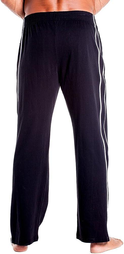 Duuluup Workout Pants Men Quick Dry Active Sports Sweatpants Open-Hem with Pockets