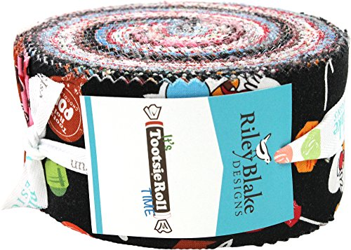 Cotton Candy Quilt Shop (It's Tootsie Roll Time Rolie Polie 40 2.5-inch Strips Jelly Roll Riley Blake Designs RP-6810-40)