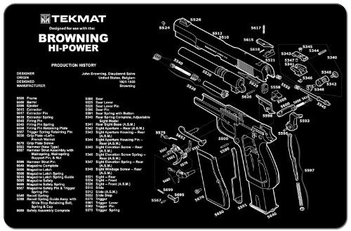 (TekMat Gun Cleaning Mat for use with Browning)