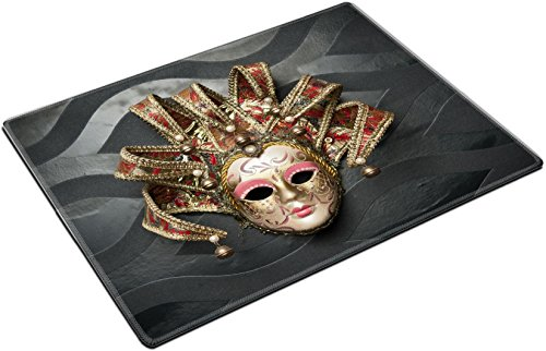 MSD Place Mat Non-Slip Natural Rubber Desk Pads design: 27630256 Beautiful classical mask from Venice on black wall Carnival mask Venetian tradition (Sale Masks Venetian Wall For)