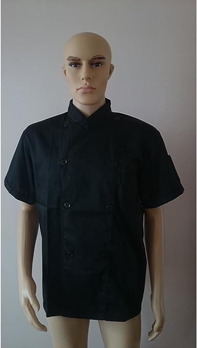 Cocina de manga corta Cocina Uniforme de trabajo Jefe de cocina Camarera de camarera chaqueta rojo XS: Amazon.es: Ropa y accesorios