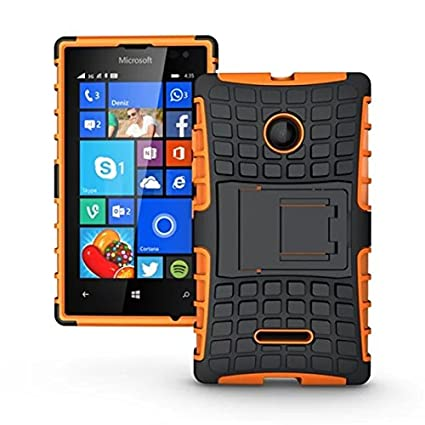 online store ebc75 7ad7d Microsoft Lumia 532 Case, Lumia 532 Cover, Dual Layer Protection Shockproof  Impact Resistant Hybrid Rugged Case Hard Shell Cover with Kickstand for ...