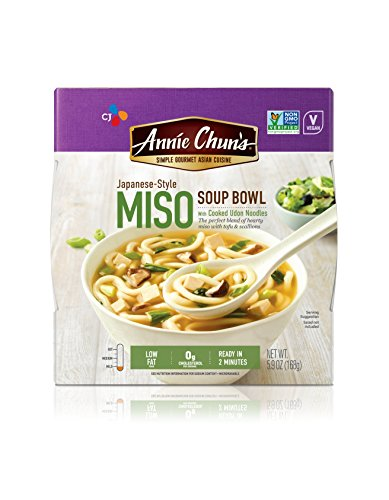 Annie Chun's Miso Soup Noodle Bowl, Non-GMO, Vegan, 5.9-oz (Pack of 6) (Best Miso Soup Recipe)