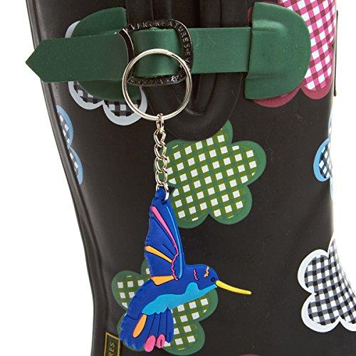Evercreatures Vichy Mesdames Veau Caoutchouc Wellies Floral Pattern - Diverses Tailles