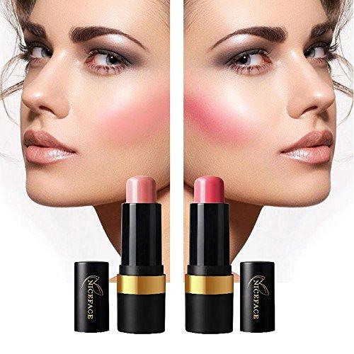 FTXJ Cosmetic Blusher Makeup Smooth Blush Stick Cheek Lip Glaze (Pink) by FTXJ (Image #2)