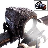 Bright Eyes Fully Waterproof 1600 Lumen Rechargeable Mountain, Road Bike Headlight, 6400mAh Battery (Now 5+ Ho