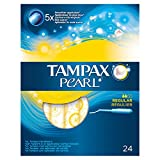 Tampax Pearl Regular Tampons with Applicator–Pack of 24