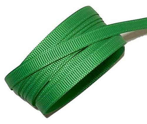10 Yards Emerald Green 1/4'' Grosgrain Ribbon by The Yard DIY Hair Bows KD-3203