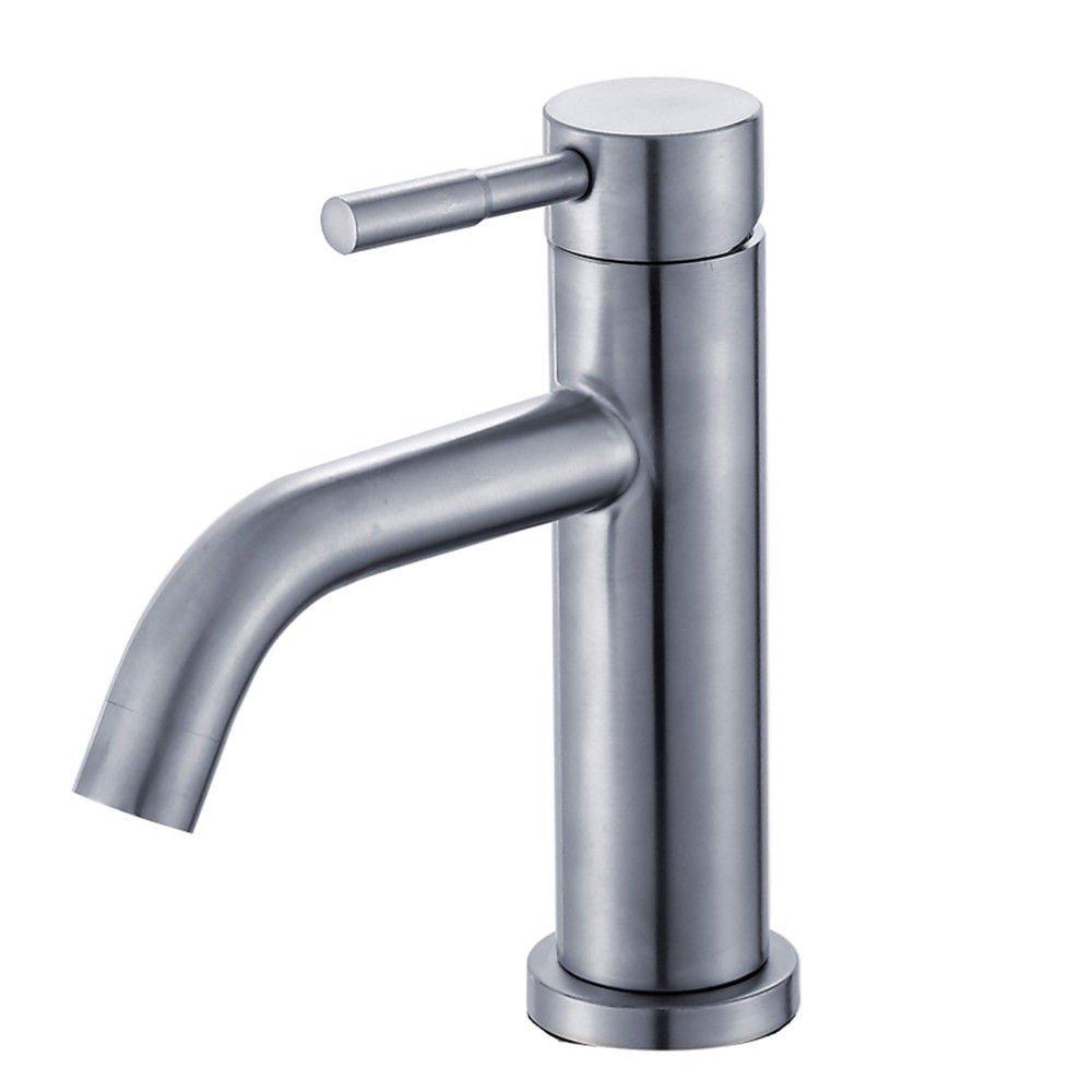 NewBorn Faucet Wasserhähne Warmes und Kaltes Wasser Größe Qualität Wasser Edelstahl Waschbecken Waschtisch Tippen mit Leitungswasser S Leitungswasser