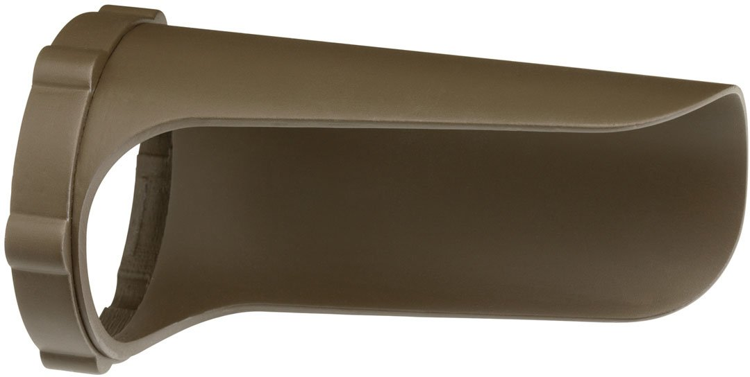 Kichler 15704AZTP Accessory Snap-on Cowl - Long 12.4W, Textured Arch Bronze Polycarbonate