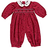 Baby Girl's Red Printed Flowers Long Sleeve Longall (9M)
