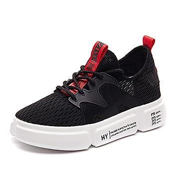 NGRDX&G Zapatillas Blancas Zapatos De Malla Gruesa Zapatos Transpirables, Negro, ...
