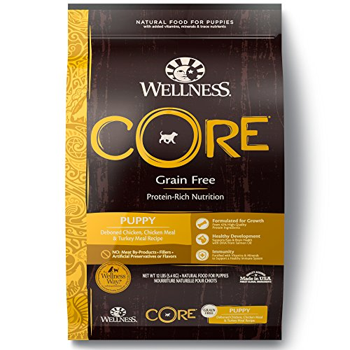 Wellness CORE Natural Dry Grain Free Puppy Food, Chicken & Turkey, 12-Pound Bag