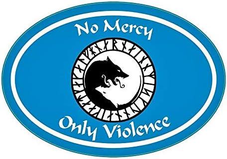 Perfect Icelandic Scandinavian Gift Viking Bumper Sticker White WickedGoodz Oval /ÚLFH/É/ÐNAR Rune No Mercy Only Violence Wolf Vinyl Decal