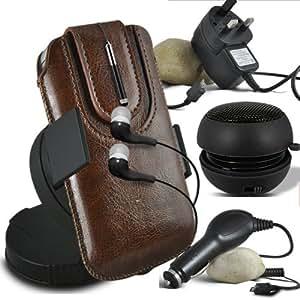 Online-Gadgets UK - LG L50 protección PU deslizamiento del lazo magnético en caja de la bolsa de liberación rápida con Mini capacitivo Stylus Pen retráctil, 3.5mm en la oreja los auriculares, Mini recargable altavoz de la cápsula, 360 Rotating del parabrisas del coche horquilla del sostenedor aprobación Monte, Micro USB CE 3 Pin cargador de red, cargador de coche de 12V Micro USB - Negro