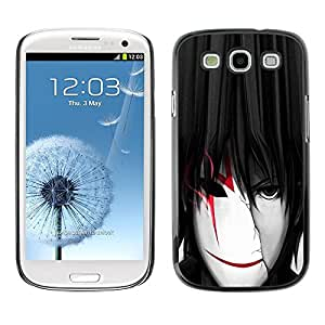 LOVE FOR Samsung Galaxy S3 cool anime boy man mask white red Personalized Design Custom DIY Case Cover