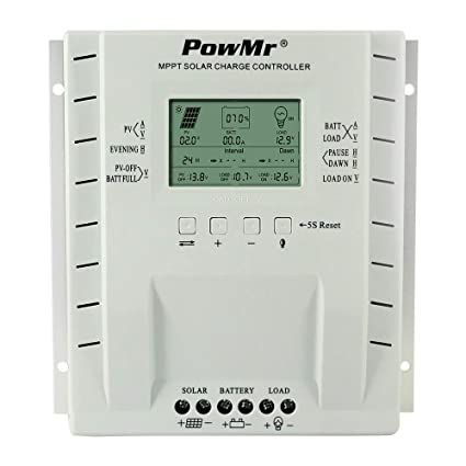 PowMr 30A Solar Charge Controller MPPT 12V/24V Auto, 30 Amp Solar Charge  Regulator MPPT Handle Max 390W/780W for Lead-Acid Battery with and Load  Timer