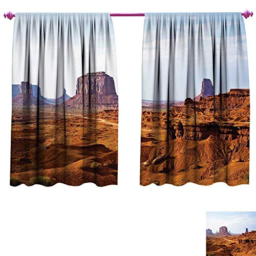 Sandstone Sunbrella Dining - Desert Blackout Window Curtain Monument Valley View from John Fords Point Merritt Butte Sandstone Image Customized Curtains W84 x L72 Baby Blue Mauve Amber