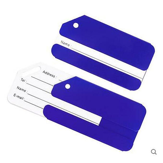 AUFODARA 5 x Etiqueta para Equipaje del Viaje de Aluminio Etiqueta Metal del Equipaje Facturado Etiqueta de Identificaci/ón de Maleta de Viaje de Negocios