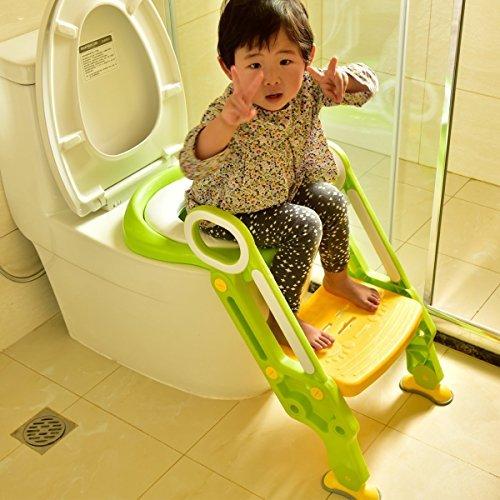 Coreykin Potty Training Seat Toilet Baby Ladder Toilet Trainer Potty Toilet Seat Step Up Toddlers Training Seat Pink by Coreykin (Image #5)