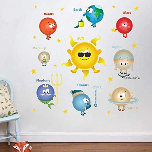Myytcy Planetas de Dibujos Animados Sistema Solar Pegatinas de ...