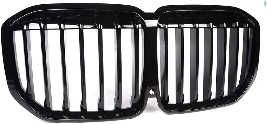 2019-2020 Glossy Black Kidney Grille for BMW X7 G07 5DR SUV Performance Style Grill Front Hood Insert Replacement