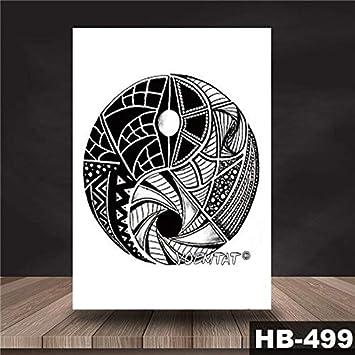 HXMAN 3 Unids Yin Yang Dragon Dragon Totem Impermeable Tatuaje ...