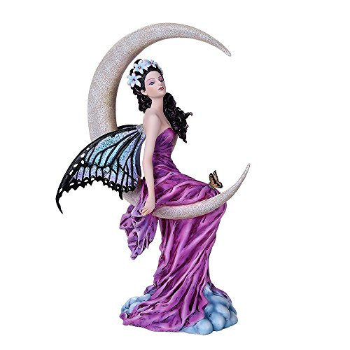 Pacific Giftware Celestial Precious Stone Amethyst Moon Fairy Collectible Figurine Nene Thomas Art Inspiration Official Licensed Collectible 12 Inch Tall