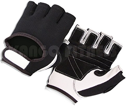 Weight Lifting Padded Leather Gloves Fitness Training Body Building Gym Sports Wheelchair W-1014