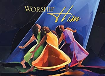 Amazon.com: 1 X Worship Him (African American Christmas Card Box ...