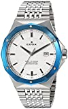 Edox Men's 53005 3BUM AIN Delfin Analog Display Swiss Quartz Silver Watch