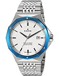 Men's 53005 3BUM AIN Delfin Analog Display Swiss Quartz Silver Watch