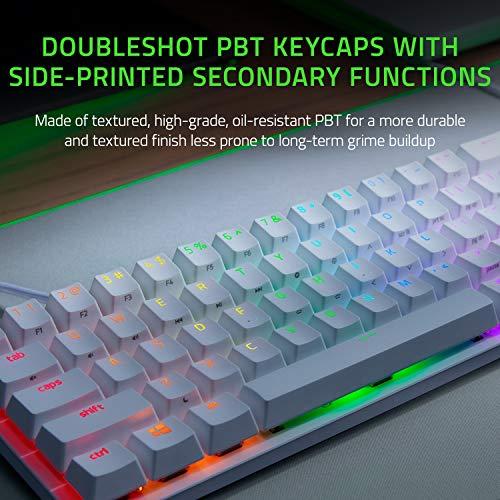 Razer Huntsman Mini 60% Gaming Keyboard: Fastest Keyboard Switches Ever - Clicky Optical Switches - Chroma RGB Lighting - PBT Keycaps - Onboard Memory - Mercury White