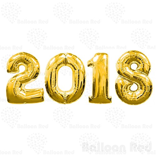 Homemade Candy Costumes Adults - New Year 2018 - 40 Inch Giant Jumbo Helium Foil Mylar Balloons (Premium Quality), Glossy Gold